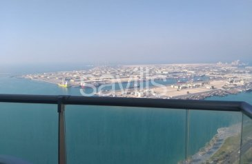 Two Bedroom, Four Bathroom, Apartment To Rent in Al Reef Tower, Al Reef, Abu Dhabi - Spacious 2+M Bedroom With The Sea View in Corniche