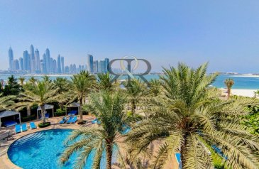 Two Bedroom, Three Bathroom, Apartment For Sale in Fairmont Residence, The Palm Jumeirah, Dubai - Vacant, Upgraded, Beachfront, Best deal in Market