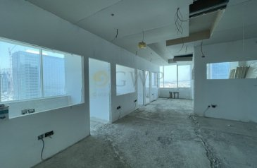 1,687 Sq Ft, Office To Rent in Capital Golden, Business Bay, Dubai - Partly Semi Fitted office in Business Bay .