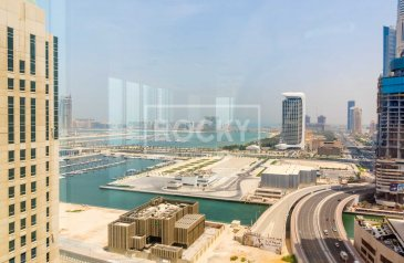 7,051 Sq Ft, Office To Rent in Al Habtoor Business Tower, Dubai Marina, Dubai - Chiller and Dewa Free | Fitted | Sea View
