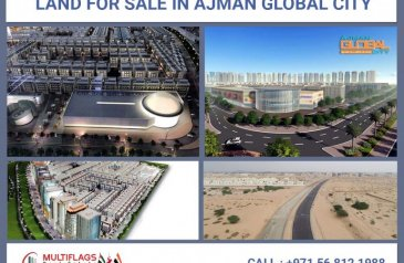 G+4 4,300 Sq Ft Residential Building & Retail Plot For Sale in Al Alia, Ajman - Land for SALE In Ajman Global City Starting From : 16,500 Dhs