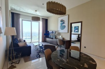 One Bedroom, Two Bathroom, Apartment To Rent in Dubai Media City (DMC), Dubai - High Floor | Brand New | Fully Furnished