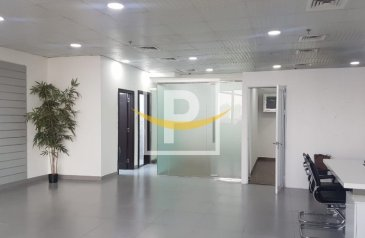1,063 Sq Ft, Office To Rent in Detroit House, Uptown Motor City (UMC), Dubai - Semi-Fitted Office for rent in Detroit House, Motor City