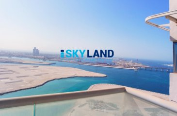 Two Bedroom, Three Bathroom, Apartment To Rent in Oceanscape, Al Reem Island, Abu Dhabi - Good News ! VACANT 2BR w/ Full Sea View and Big Balcony