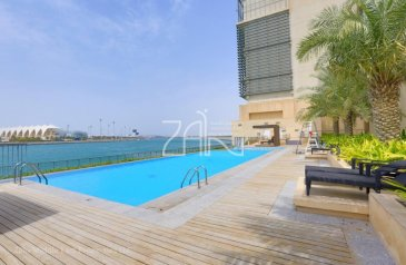 One Bedroom, One Bathroom, Apartment To Rent in Al Zeina Residential Tower B, Al Raha Beach, Abu Dhabi - Partial Sea View 1 BR Apt in Beachfront Community