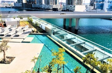 One Bedroom, Two Bathroom, Apartment For Sale in Damac Maison, Business Bay, Dubai - Time To Buy Now Fully Furnished Apartment On Lake View In Business Bay