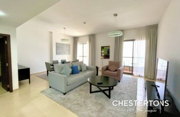 Two Bedroom, Three Bathroom, Apartment For Sale in JBR - Shams Towers, Jumeirah Beach Residence - JBR, Dubai - 2 B/R | Furnished | Beachfront | Move Today | Marina View