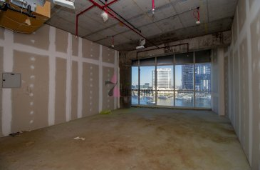 538 Sq Ft, Office For Sale in B2B Tower, Business Bay, Dubai - Shell & Core Office | Full Canal view