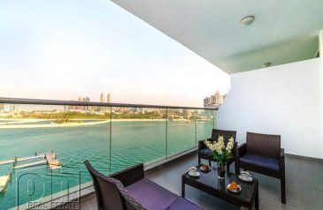 One Bedroom, Two Bathroom, Apartment To Rent in Azure Residences, The Palm Jumeirah, Dubai - Available Now|Pool, Beach & Gym|
