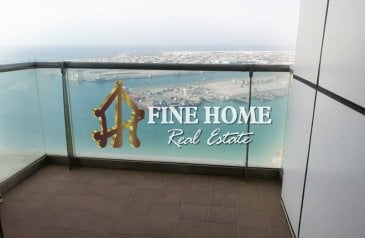 Two Bedroom, Four Bathroom, Apartment To Rent in Al Reef Tower, Corniche Abu Dhabi, Abu Dhabi - For Rent IModern 2BR w/ Maids Rm+Sea View Balcony