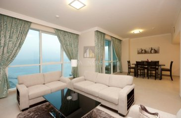 Two Bedroom, Three Bathroom, Apartment For Sale in Al Bateen, Abu Dhabi - Higher Floor Furnished 2BR Maids Room Sea View