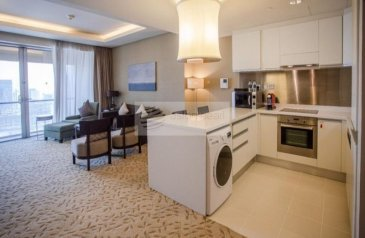 One Bedroom, One Bathroom, Hotel Apartment To Rent in The Address Dubai Mall, Downtown Dubai, Dubai - Super Luxury 1BR Hotel Apt  Fully Furnished Vacant