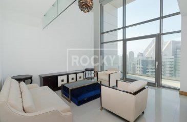 One Bedroom, Two Bathroom, Penthouse To Rent in Tecom Two Towers, Barsha Heights (TECOM), Dubai - Loft Penthouse|plus Laundry|Two Towers