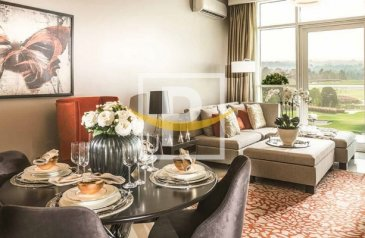 Two Bedroom, Three Bathroom, Apartment For Sale in Damac Hills (Akoya), Dubailand, Dubai - Stunning View of Golf Course   Flexible Payment   Ready Furnished