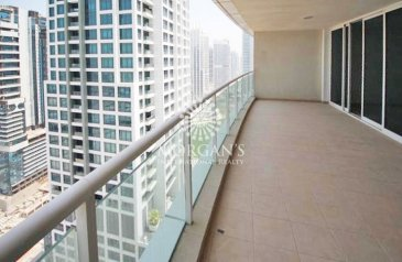 One Bedroom, Two Bathroom, Apartment To Rent in Lake Al Mas West, Jumeirah Lakes Towers - JLT, Dubai - Spacious 1BR with Big Balcony Laguna Tower