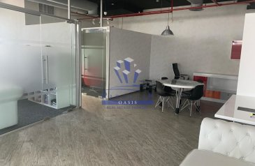 1,460 Sq Ft, Office To Rent in Smart Heights, Barsha Heights (TECOM), Dubai - Fully Fitted | Two (2) Parking's | Vacant