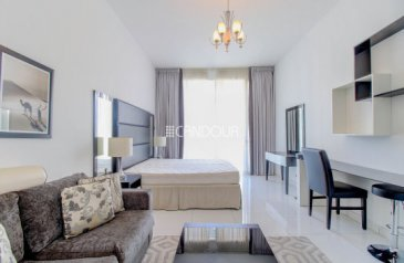 Studio, One Bathroom, Apartment To Rent in Giovanni Boutique Suites, Dubai Sports City (DSC), Dubai - Fully High End Furnished   Well Maintained Studio