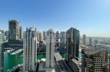 Two Bedroom, Three Bathroom, Apartment To Rent in Amwaj 4, Jumeirah Beach Residence - JBR, Dubai - Marina view I 2BR Unfurnished I Currently Vacant