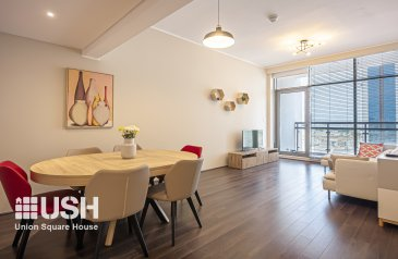 Three Bedroom, Two Bathroom, Apartment For Sale in Al Sufouh 1, Dubai - Exclusive unit l Furnished 3BED in J8