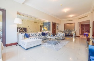 Two Bedroom, Apartment For Sale in Golden Mile 4, The Palm Jumeirah, Dubai - Mid floor| Large Balcony| Vacant now