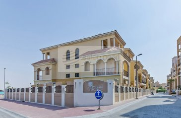 One Bedroom, Two Bathroom, Apartment For Sale in Fortunato, Jumeirah Village, Dubai - Well Maintained | Private Garden |Facing Pool |
