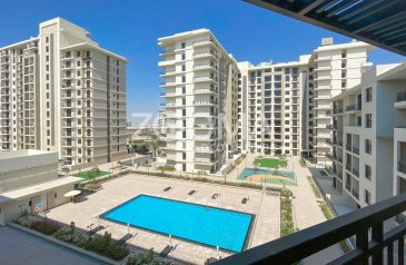 Two Bedroom, Two Bathroom, Apartment For Sale in Hayat Boulevard, Town Square, Dubai - Pool View  Spacious Unit Good investment