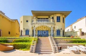 Four Bedroom, Five Bathroom, Villa For Sale in Frond K - Al Khisab, The Palm Jumeirah, Dubai - Fully Villa Furnished Garden Gallery Home