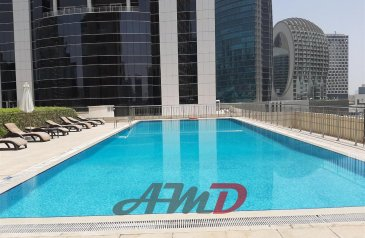Two Bedroom, One Bathroom, Apartment To Rent in ENI Coral Tower, Business Bay, Dubai - Beautiful view-Free maintained-1 Parking
