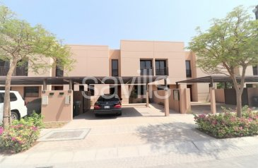 Three Bedroom, Two Bathroom, Townhouse To Rent in Al Zahia, Sharjah - Vacant mid unit with landscaped garden