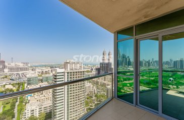 Two Bedroom, Three Bathroom, Apartment To Rent in Golf Towers, The Greens, Dubai - High Floor | Extended Balcony |Golf Course View