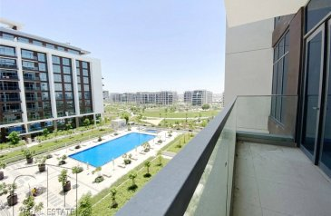 Two Bedroom, Two Bathroom, Apartment For Sale in Acacia Park Heights, Dubai Hills Estate, Dubai - Pool+Park View | Genuine Listing | 2 Bed