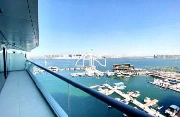 One Bedroom, Two Bathroom, Apartment To Rent in Al Naseem B, Al Raha Beach, Abu Dhabi - Sea View Large 1 BR Vacant in Waterfront Community