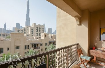 Two Bedroom, Three Bathroom, Apartment For Sale in Reehan, The Old Town, Downtown Dubai, Dubai - OT Specialist | 2 + Study | Burj View
