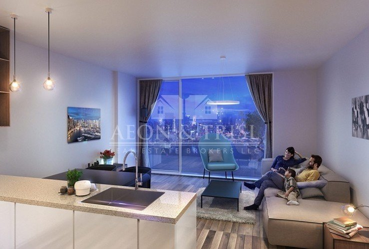 Azizi Aura, Furnished 2 Bed For Aed 1.2m