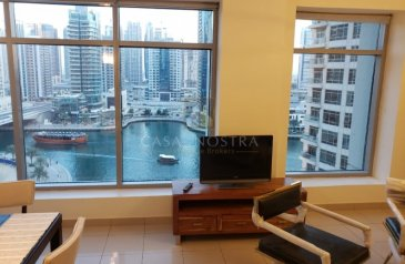 Two Bedroom, Three Bathroom, Apartment For Sale in Blakely, Dubai Marina, Dubai - Affordable Investment Furnished 2BR Marina View