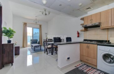 One Bedroom, Two Bathroom, Apartment For Sale in Elite Sports Residence 7, Dubai Sports City (DSC), Dubai - Large type | Fully furnished | Perfect condition