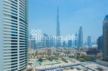 314 Sq Ft, Office To Rent in Tamani Arts, Business Bay, Dubai - Burj View   Chiller Free   High Floor.!!