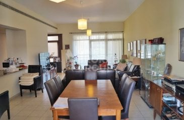 Two Bedroom, Three Bathroom, Apartment To Rent in Al Ghaf 2, The Greens, Dubai - Largest 2 BR plus study pool park view