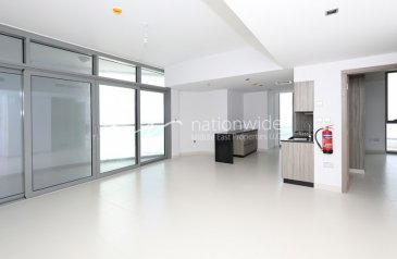 Two Bedroom, Two Bathroom, Apartment To Rent in Meera Shams Abudhabi, Al Reem Island, Abu Dhabi - A Brand New Unit with Balcony & 2 Payments