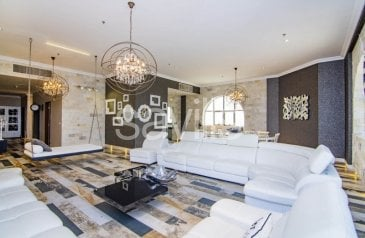 Four Bedroom, Five Bathroom, Apartment For Sale in Al Taawun, Sharjah - Penthouse w/ Special Italian Design | Sea View
